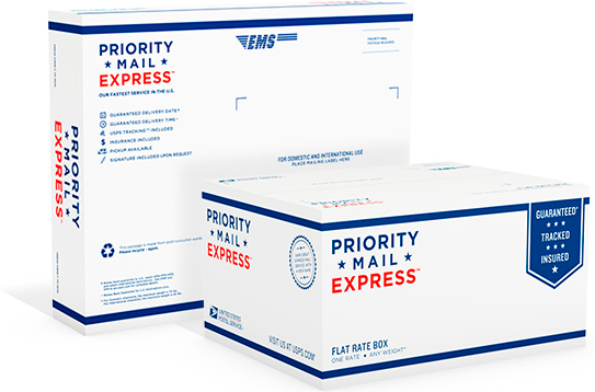 priority mail express international package