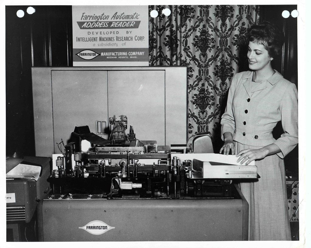 Farrington Automatic Address Reading Machine 1953